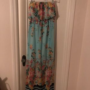 Socialite Strapless Floral Maxi Dress